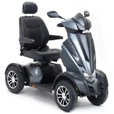 Drive King Cobra 8MPH Mobility Scooter Grey Silver Front