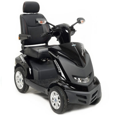 Drive Royale 4 8MPH Mobility Scooter Black Front