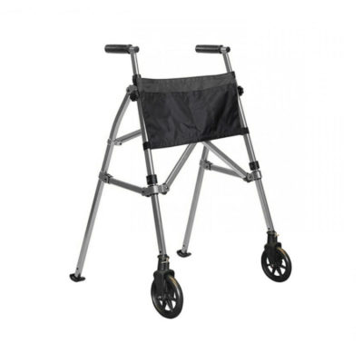 EZ Fold And Go Walking Frame Grey Silver Anthracite Side