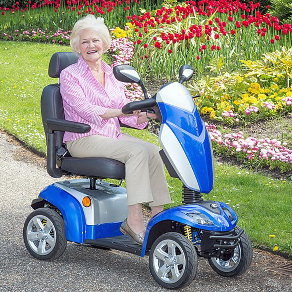Kymco Agility Mobility Scooter 8MPH Blue Lifestyle