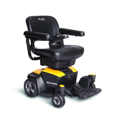Pride Go-Chair 2 Electric Wheelchair Powerchair Yellow