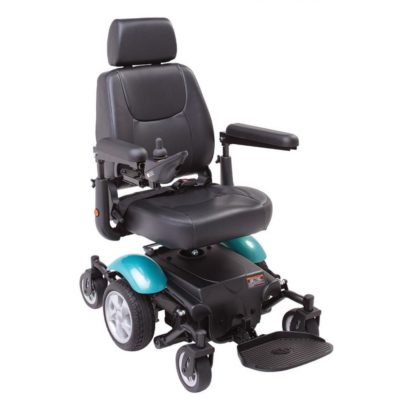 Rascal P327 Mini Electric Wheelchair Green Blue Aqua