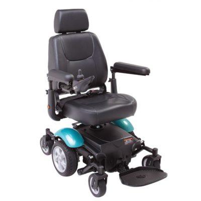 Rascal P327 Mini Electric Wheelchair Green Blue Aqua