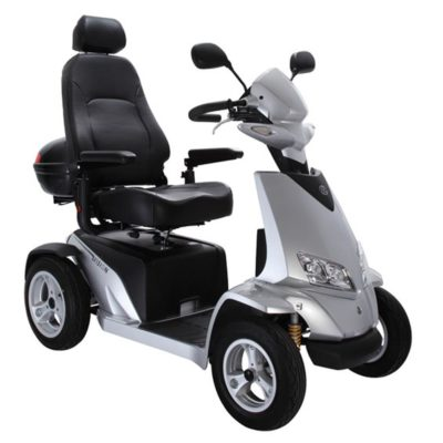 Rascal Vision 8MPH Mobility Scooter Silver Grey Front