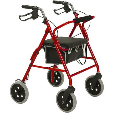 Roma 4 Wheel Walker 2463 Large Wheels Red