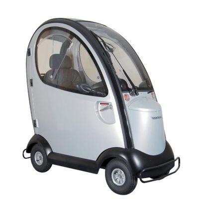 Shoprider Traviso Enclosed 8MPH Mobility Scooter Silver Grey Main