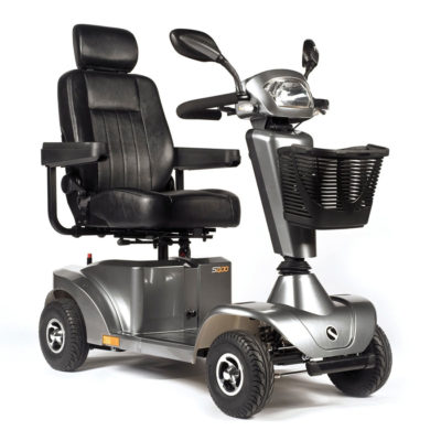 Sunrise Sterling S400 Mobility Scooter Silver Grey