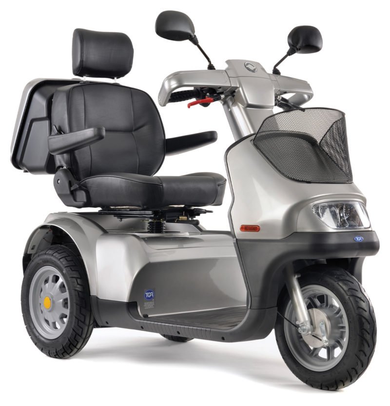 TGA Breeze 3S 8MPH Mobility Scooter Silver Grey Front