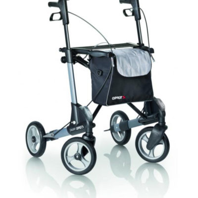 Troja 4 Wheel Walker Grey Silver Black
