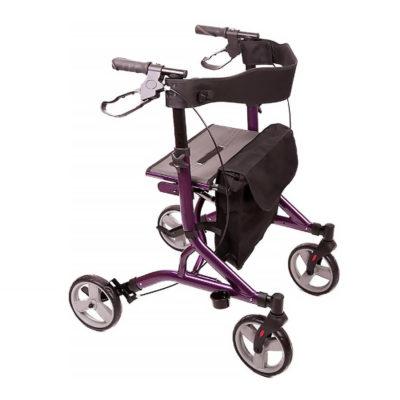 Zoom 4 Wheel Walker Rollator Purple