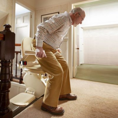 Brooks Slimline Stairlift Lifestyle Sitting