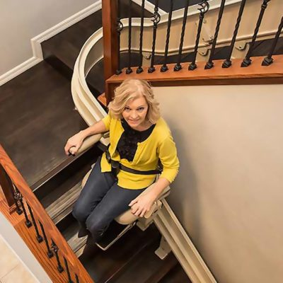 Bruno Elite Curved Stairlift Main