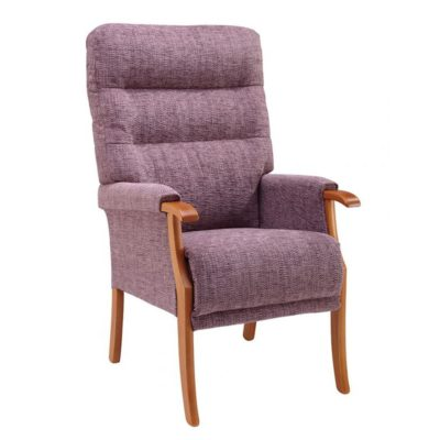 Cosi Chair Fireside Chair Orwell Kilburn Plum