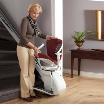 Homeglide Extra Straight Stairlift Lifestyle Bottom