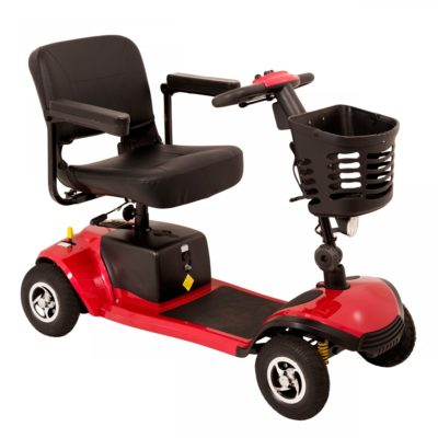 Komfi Rider Vantage Transportable Mobility Scooter Red