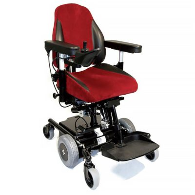 Mercado Medic Real 6100 Plus Electric Wheelchair Powerchair Red Seat