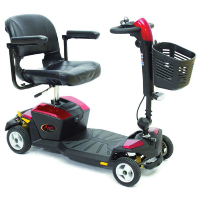 Pride Apex Rapid Transportable Mobility Scooter Red