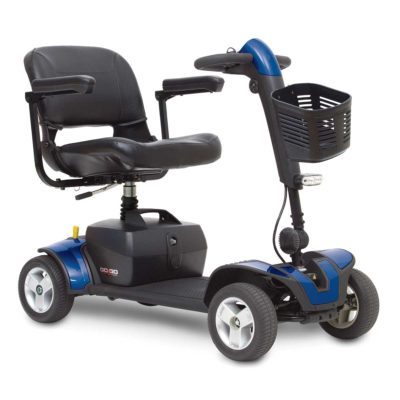 Pride Go Go Elite Traveller Sport Transportable Mobility Scooter Blue