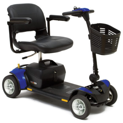 Pride Go Go Traveller Plus 4 Mobility Scooter Blue
