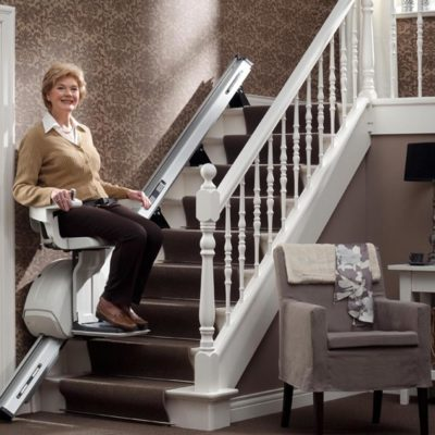 Homeglide Straight Stairlift Lifestyle Lifting