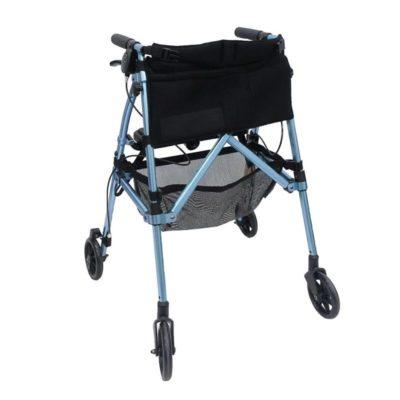 EZ-fold and go rollator blue 800x800