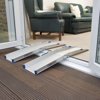 Enable Access RampCentre Ultralight Folding Channel Ramps in situ 800x800