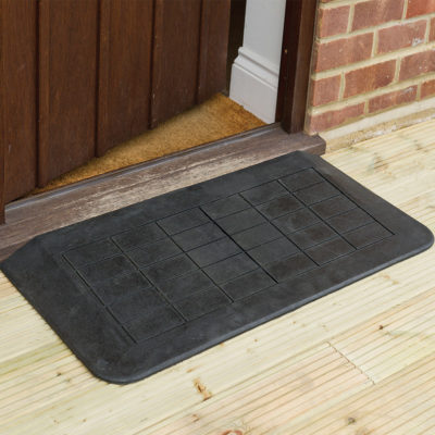 Enable Access RampCentre doorline neatedge90 rubber threshold ramp 1 width 4 heights