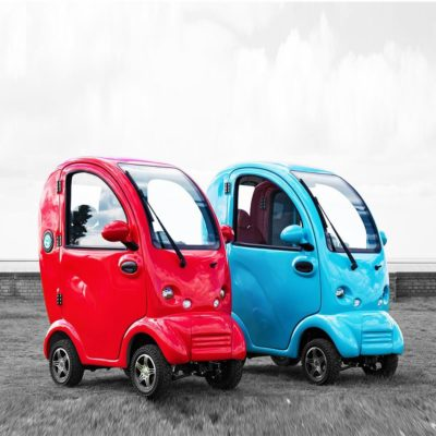 Scooterpac Cabin Car Mk2 Plus Mobility Scooter Red and Blue