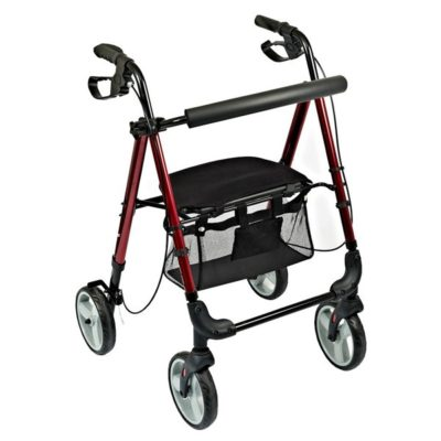 Novo 4 Wheel Walker Red