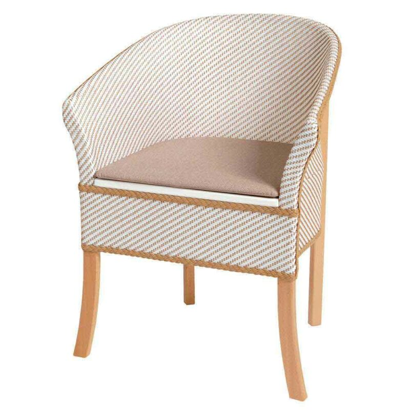 PH, Basketweave Commode Chair