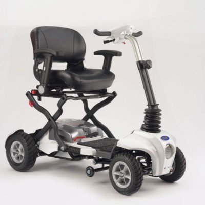 TGA Maximo Plus Folding Mobility Scooter-White-Front-800x800