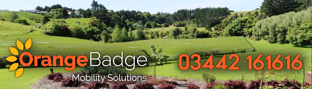 Picture of Burgess Hill with Orange Badge logo and 03442161616 telephone number for Burgess Hill mobility page
