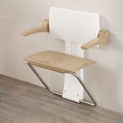 impey slimfold shower seat sandstone