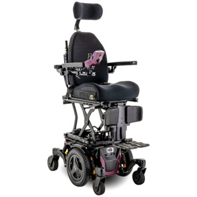 an empty pride stretto wheelchair with a blank background